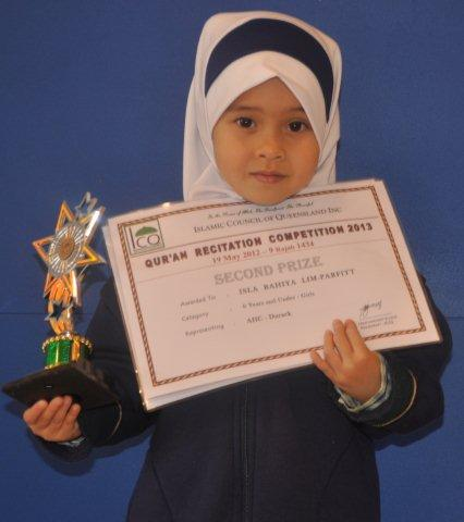 Isla Bahiya Lim-Parfitt 2nd position (6 years & Under)